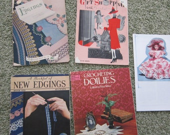 Collection of Vintage Crochet Books, Patterns