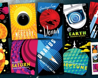 Planetary Postcards & Stickers