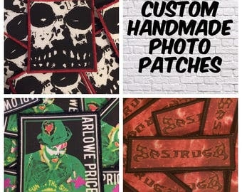 20 Custom Patches - Handmade Patch - Custom Handmade Patch - Band Patches - DIY patch - Picture Patch - Logo Patch