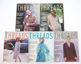 LIST JANUARY 2018 Vintage 1997 Threads Magazine, No. 69 to 72, 74 with Index