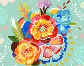 Mountain Bouquet - on stretched canvas - Katie Daisy art