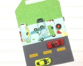 Big Cars wallet, Car travel mat, Travel toys, Kids travel wallet, Car holder, Car carrier, Activity play, Fold up play mat, Compact toy