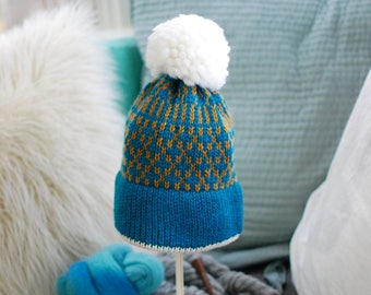 Thick and Warm Fair Isle Hat