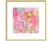 Pink Abstract Watercolor Print-Fine Art Print-Giclee Print-Wall Art-Abstract Painting-Home Decor
