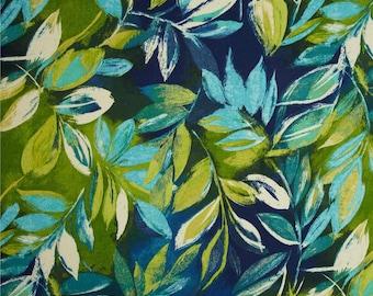 leaf shower curtain blue green bathroom decor botanical shower curtain tropical shower curtain