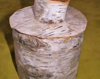 Upper Peninsula Michigan Birch Bark Jewelry Stash Storage Cup Container