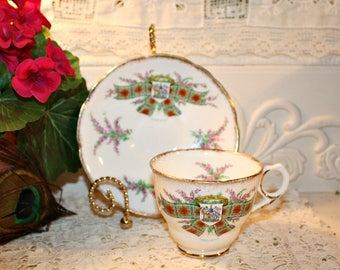 Vintage Soy Tea Cup Candle,Royal Stafford Tartan,MacLean,Wedding,Bridal Shower,Tea Party,Collectible,Homemade Hand Poured,YOUR SCENT CHOICE