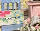 Sale Miniature Garden Sign- Floral Collection