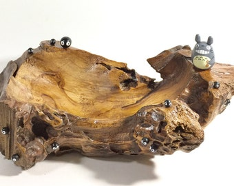 My Neighbor Totoro doll TEAK WOOD TRAY Studio Ghibli 54