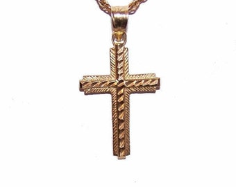 Vintage Cross, Vintage Pendant, 14K Gold, Yellow Gold, Cross Pendant, 14K Gold Pendant, Religious Cross, Religious Pendant, Gold Cross