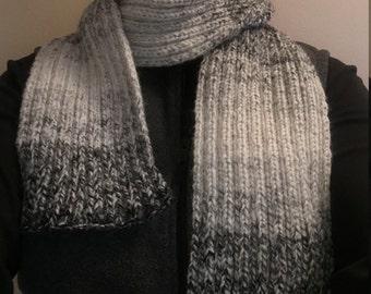 Hand knit Chunky Rib Scarf