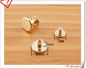 9mm x 3mm Gold screws rivets Chicago screw/Concho screw 20sets H86