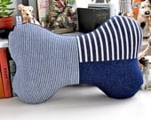 Denim Bone Pillow