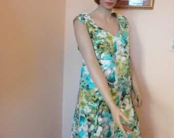 Vintage Handmade Summer Dress with Sweetheart Neckline Sz 22