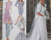 Simplicity 7657 - Amazing 1990s Wedding Dresses, Formal Occasion, Bridesmaids - Totally 80s / 90s - The Wedding Singer - UNCUT Size 16 18 20