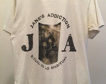 RARE Authentic Vintage 1990 Jane's Addiction T shirt - Ritual De Lo Habitual  - 3 Days at the Hollywood Palladium