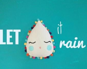 Plush Pillow Toy - Rain Drop