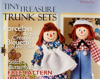 Doll Crafter & Costuming Magazine September, 2007, 1 pullout pattern, Sculpting feet, make shoes, Purse, Butterfly doll, Excellent condition