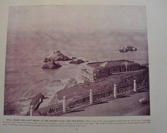 1894 Scenic Photography of America - Golden Gate San Francisco California - Landscape Nature Antique Victorian Era Fine Art 100 Years Old