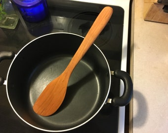 "Large 14"" Cherry cooking spatula -perfect dutch oven tool!!"