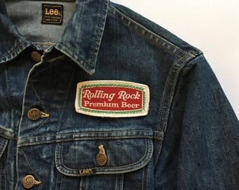 Vintage Rolling Rock Beer Embroidered Patch