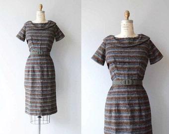 Modern Poetry dress | vintage 1950s dress | wool 50s dress