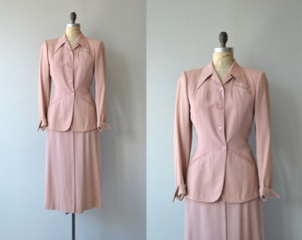 Rosenblum gabardine suit | vintage 1940s suit | gabardine wool 40s suit