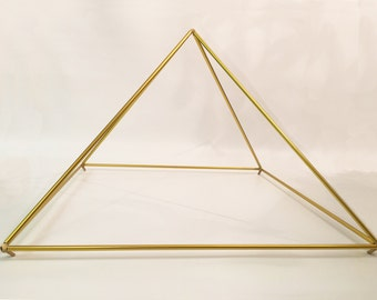 """30"""" Gold-Anodized Pyramid easy-to-assemble kit designed by Nick Edwards for Pyramid Planet."""