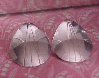 Vintage Sterling 1 inch Tear Drop Post Pierced Earrings