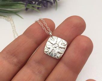 Fine Silver Fleur De Lis Necklace  Gift for Friend Birthday
