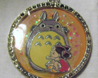 My Neighbor Totoro Necklace Lolita Necklace Kawaii Totoro Pendant Japanese Anime Pendant Cosplay Jewelry One of A Kind Resin Necklace