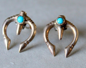 Navajo Sterling Silver NAJA Earrings Native American
