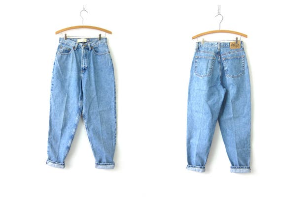 90s High Waist Blue Jeans Denim GAP Tapered Leg Mom Jeans Vintage light Wash Hipster Jeans Womens Size 6 SMALL