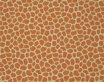 Fabric Traditions - Jungle Babies Patty Reed Giraffe Skin Print Beige Brown YARD