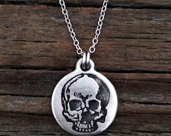 Yorick's Skull Necklace | Steampunk Necklace | Skull Jewelry | Steam Punk Jewelry | Skull Necklace | by Treasure Cast Pewter