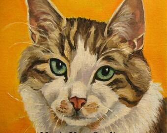 PET PORTRAIT 20 x 20  oil on regular stretched canvas