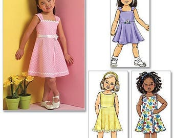 GIRLS  SUNDRESS PATTERN / Retired / Summer Clothes / Sizes 2 - 5 or 6 - 8 / Easy To Do