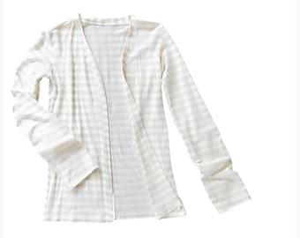 Merino wool cardigan shirt