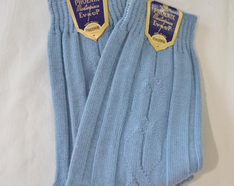 Vintage Men's Socks New Deadstock USA Made 1950's Phoenix Masterpiece Ever-Up