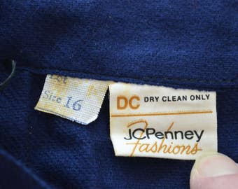 last chance Vintage JC PENNEY dark blue SKIRT size 16 usa 1970's