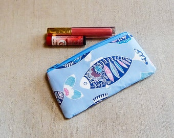 Gift for Mom/ Womens wallet/ makeup organizer/ gift for her/ gift/ best friend gift/ bff gift/ valentines gift/ make up bag/ fish pouch