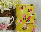 Tea Wallet, Tea Case, Tea Pouch... Vintage Daydream Gold Vintage Floral