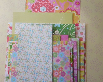 SALE - 40 Spring and Summer Paper Pieces for Arts and Crafts and Card Making