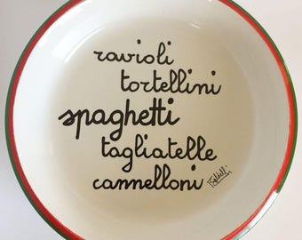 Vintage Baldelli Serving Bowl, 70's Decor, Italian Pasta  Ceramic