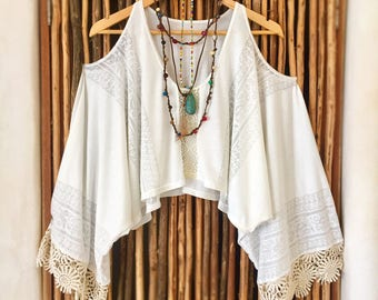 Angel Wings Peek-a-Boo Kimono Kaftan/Shrug