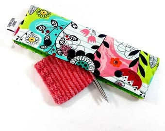 Stitch Holder Point Protector Zipper Pouch Needle Nook - DPN and Circular Project Holder -  Happy Doodle