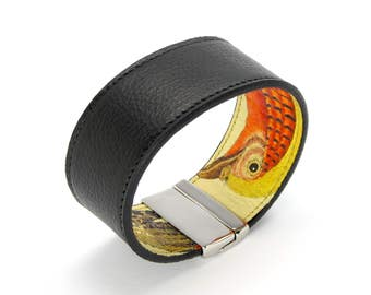 Mens Leather Bracelet also, with contactless payment chip - Pheasant