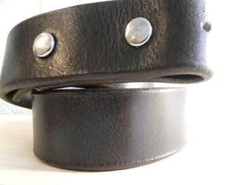 "Medium Brown Leather 1 1/4"" Belt blank"