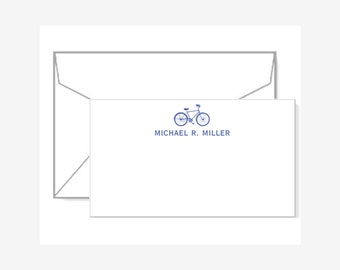 Personalized Gift Enclosure Cards with Mini-Envelopes - Bicycle