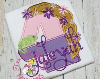 Rapunzel Birthday Party Shirt ~ 4th Birthday Shirt ~ Tangled Party Shirt ~ Princess  Birthday Shirt ~ Rapunzel Birthday Outfit ~